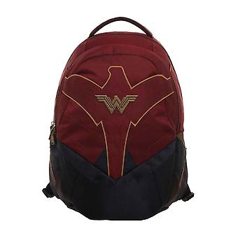 Wonder Woman Backpack Bag W Logo new Official DC Comics Red