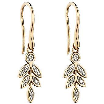 Boucles d'oreilles Elements Gold Graduating Leaf - Or/Argent