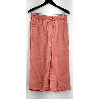 Liz Claiborne York Stretchy Cropped Pants Coral Pink A254845