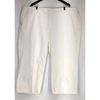 Alfani plus bukser beskåret bukse Tummy kontrol hvid Dame