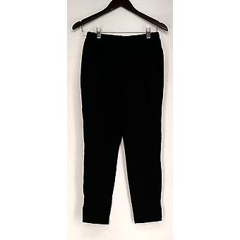 Liz Lange Leggings Cropped Ultimate Side Slit Black Womens 475-500