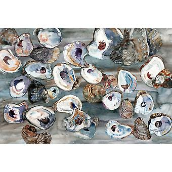 Carolines Treasures  8957PLMT Bunch of Oysters Fabric Placemat
