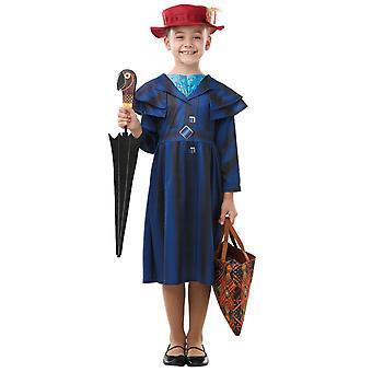 Mary Poppins restituisce Deluxe Disney Movie Storia Libro Settimana Bambino Ragazze Costume