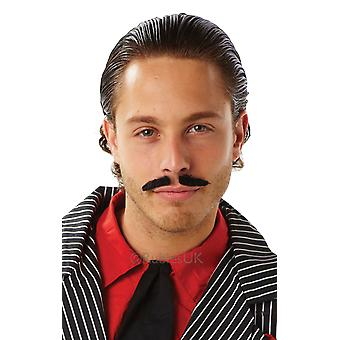 Rubie's Mens Fake Black Moustache Fancy Dress Accessory