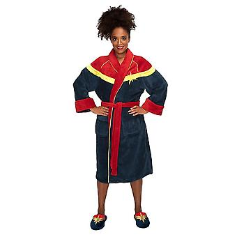 Women's Captain Marvel Fleece Dressing Gown