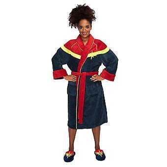 Vrouwen ' s Captain Marvel fleece Kamerjas