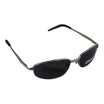 Sunglasses Sport Rectangle polarizing Glass silver black FREE BrillenkokerS306_3