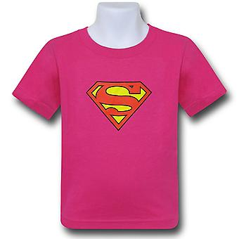 Supergirl Kids Pink Symbol T-Shirt