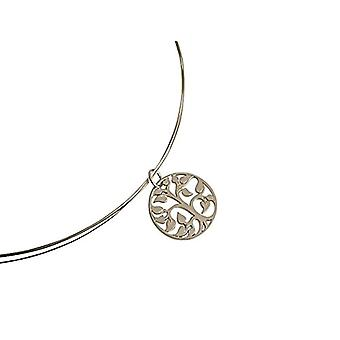 Gemshine Silver Woman pendant necklace - A543