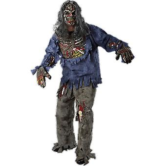 Erwachsene lila Zombie Walking Dead Halloween Fancy Kleid Kostüm