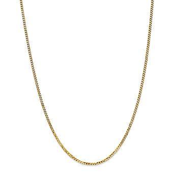 14k 2.2mm Afgeschuind Curb Chain enkelband sieraden geschenken voor vrouwen - Lengte: 7 tot 10