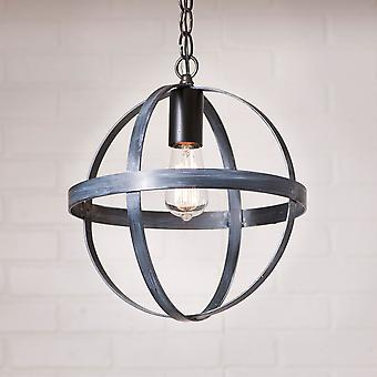 Irvin's Country Tinware 12-Inch Strap Sphere Pendant in Black
