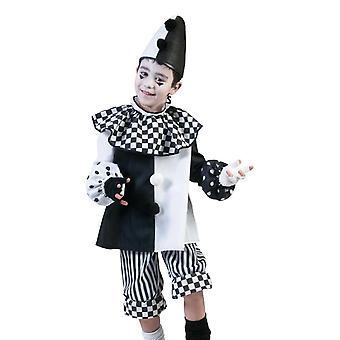 Nero Bianco Arlecchino Clown Clown Costume Carnevale Halloween Circo Costume Bambini Venezia
