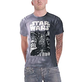Star Wars T Shirt The Empire Strikes Back Vader vintage new Official Mens Grey