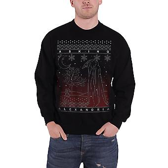 Asking Alexandria Christmas Jumper Sweatshirt The Black Forest Official Mens New