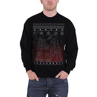 Pytając Aleksandrii Christmas sweter Bluza męskie Oficjalna czarny las nowy