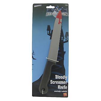 Blut befleckt Screamer Messer 33cm Halloween Zubehör