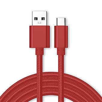 Kit minut ulos USB Type C-kaapeli, 3,1 amp USB C Nopea lataus Nylon punottu kaapeli yhteensopiva Samsung Galaxy A50, lataus Data Sync kaapeli johto johto