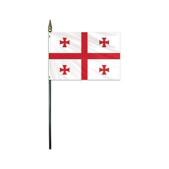 "Georgia medium hand flag 9"" x 6"""