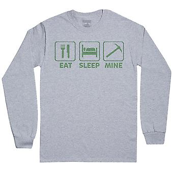 Eat Sleep Mine - Herren Langarm T-Shirt