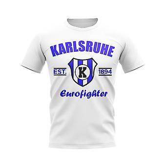 Karlsruhe etablerte fotball T-skjorte (hvit)