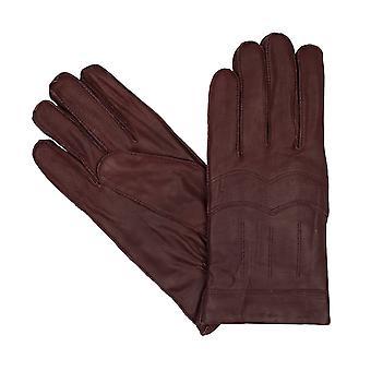 Bugatti gants pour hommes gants vintage chèvre nappa cuir brun 8361