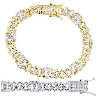 Bracelet Premium Bling Sterling Silver - CUBAN 10mm