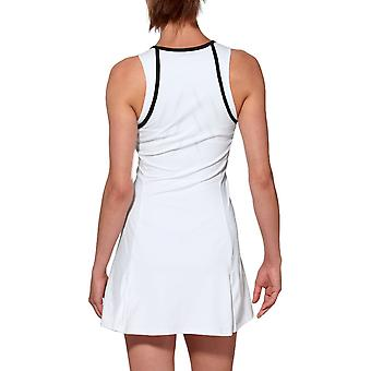 Asics Womens Club Sleeveless Sports Training Tennis Dress Top - Real White