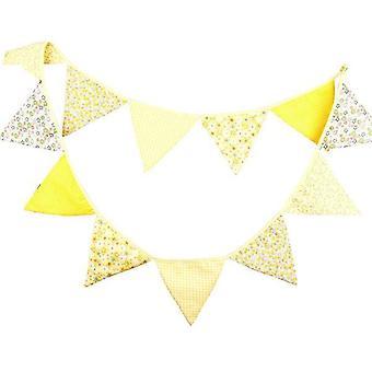 Vincenza encantadora bandera de la bandera de la bandera de la bandera de las guirnaldas de tela triángulo banderas de la decoración