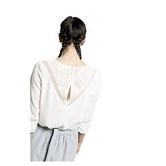 Grace and Mila Marc V shaped Lace Back Blouse