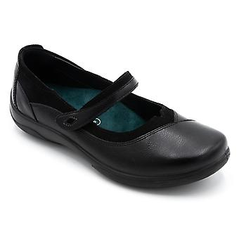 Padders Medley Ladies Leather Extra Wide (2e/3e) Shoes Black