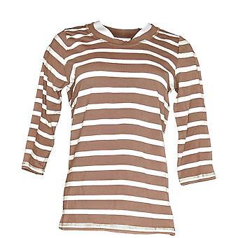 Denim & Co. vrouwen ' s top XXS Essentials perfect Jersey bruin A264030