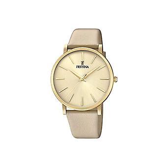 フェスティナ時計アナログ クオーツ レディース腕時計レザー F20372/2