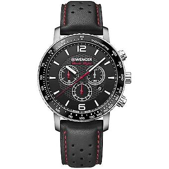 Wenger mens watch black night Roadster chronograph 01.1843.101