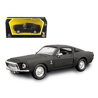 1968 Ford Shelby Mustang GT 500 KR Matt Black 1/43 Diecast Model Car par Road Signature