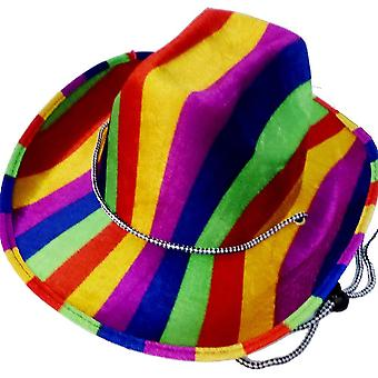 Bristol Novelty Rainbow Cowboy Hat