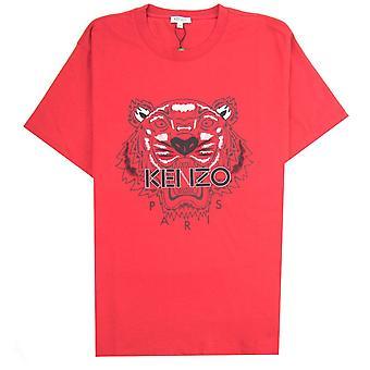 Кензо Тигр футболка Красный