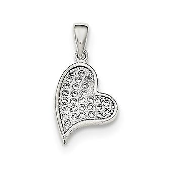 925 Sterling Argento Polacco C'è Cubic zorconia Simulato Diamante Amore Cuore Ciondolo Collana Gioielli Gioielli per le Donne