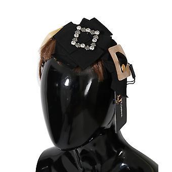 Dolce & Gabbana Clear Crystal Brown Hair Hoofdband