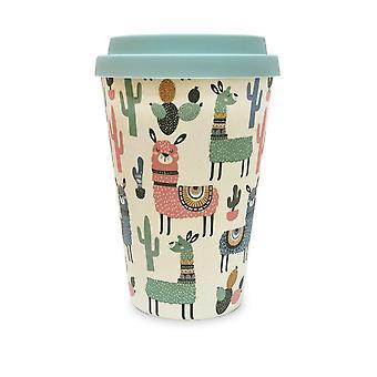 Historia & Heraldry Bamboo Eco Travel Mug-Llamas