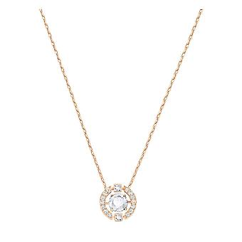 Swarovski Sparkling Dance Rose Gold Tone Plated & Clear Crystal Round Necklace