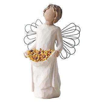 Figurine d'ange de soleil d'arbre de saule