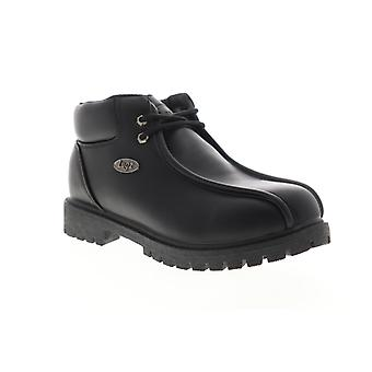 Lugz Pathway 5  Mens Black Leather Mid Top Lace Up Ankle Boots