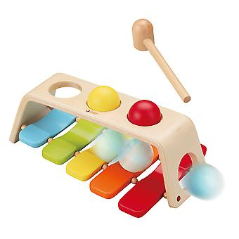 Classic World - Children's Wooden 2 in 1 Pound and Tap Bench Xylophone Educational Musical Toy