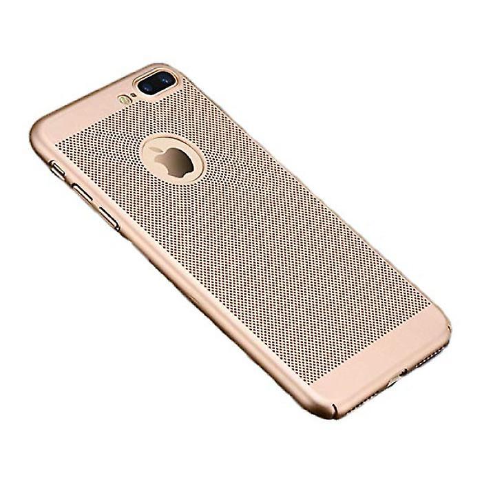 Stuff Certified® iPhone 8 Plus - Ultra Slim Case Heat Dissipation Cover Cas Case Gold