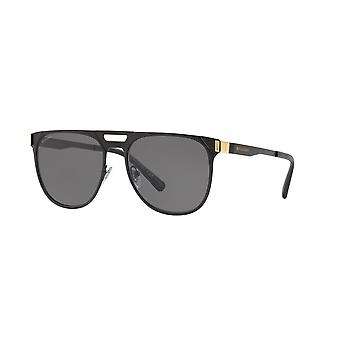 Bvlgari BV5048K 409081 Matte Black-Gold/Polarised Grey Zonnebrillen