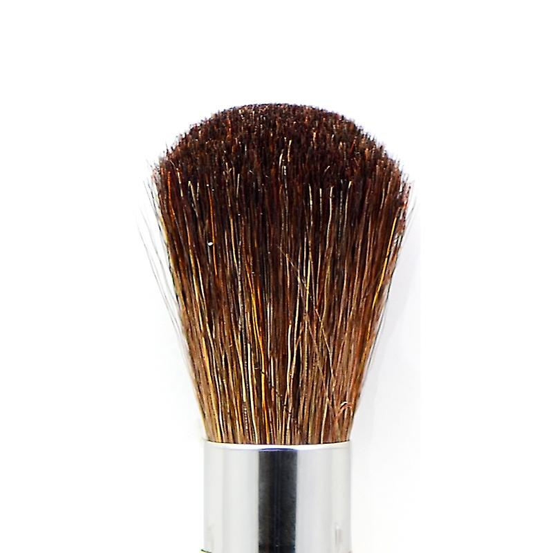 Retractable Blusher brush with brown mountain goat hair 3032