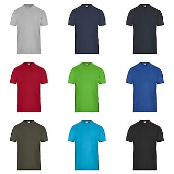 Camiseta de james y Nicholson para hombre de algodón orgánico Stretch
