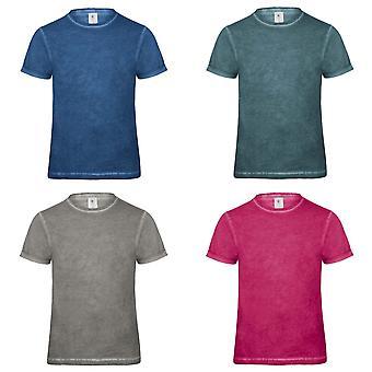 B & C Denim Mens koble kort erme t-skjorte
