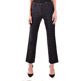 Yohji Yamamoto Ezbc106037 Women's Black Wool Pants